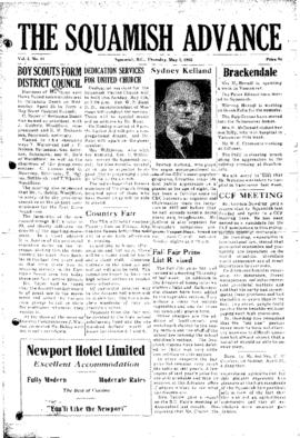 Squamish Advance: Thursday, May 1, 1952