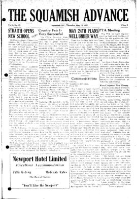 Squamish Advance: Thursday, May 15, 1952