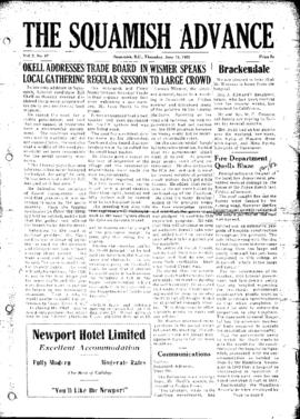 Squamish Advance: Thursday, June 12, 1952