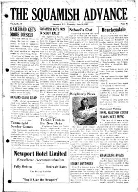 Squamish Advance: Thursday, June 26, 1952