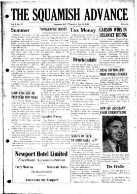 Squamish Advance: Thursday, July 10, 1952