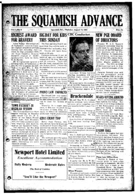 Squamish Advance: Thursday, August 14, 1952