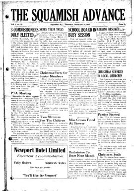 Squamish Advance: Thursday, December 18, 1952