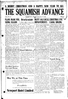 Squamish Advance: Thursday, December 25, 1952