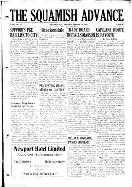 Squamish Advance: Thursday, January 15, 1953
