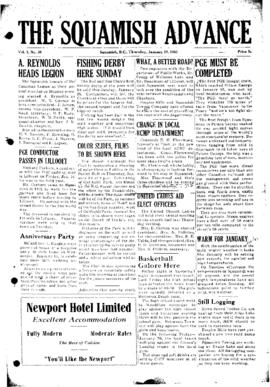 Squamish Advance: Thursday, January 22, 1953