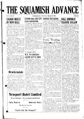 Squamish Advance: Thursday, March 19, 1953