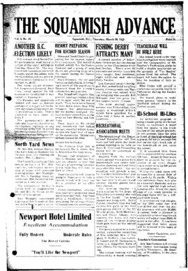 Squamish Advance: Thursday, March 26, 1953