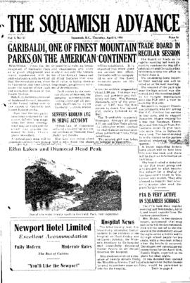 Squamish Advance: Thursday, April 9, 1953