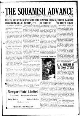 Squamish Advance: Thursday, April 16, 1953