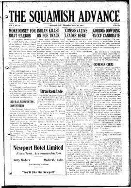 Squamish Advance: Thursday, April 23, 1953