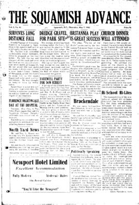 Squamish Advance: Thursday, May 7, 1953