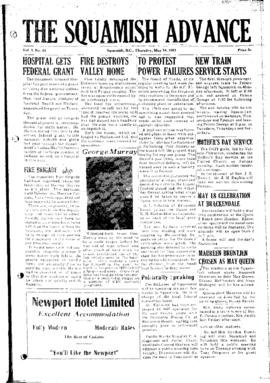 Squamish Advance: Thursday, May 14, 1953