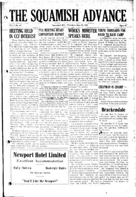Squamish Advance: Thursday, May 21, 1953