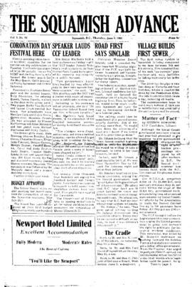 Squamish Advance: Thursday, June 4, 1953