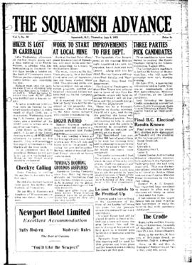 Squamish Advance: Thursday, July 9, 1953