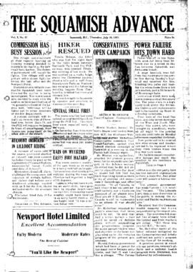 Squamish Advance: Thursday, July 16, 1953