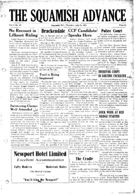 Squamish Advance: Thursday, July 23, 1953