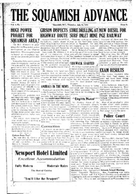 Squamish Advance: Thursday, July 30, 1953