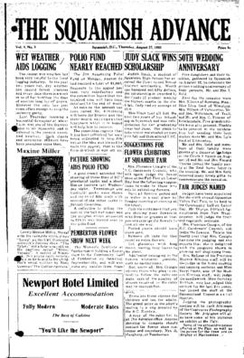 Squamish Advance: Thursday, August 27, 1953
