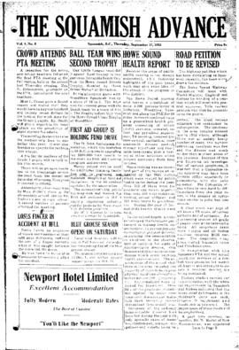 Squamish Advance: Thursday, September 17, 1953