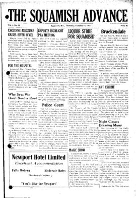 Squamish Advance: Thursday, October 15, 1953