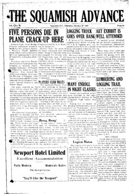 Squamish Advance: Thursday, October 22, 1953
