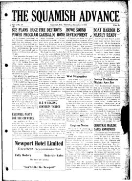 Squamish Advance: Thursday, December 3, 1953