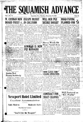 Squamish Advance: Thursday, December 10, 1953