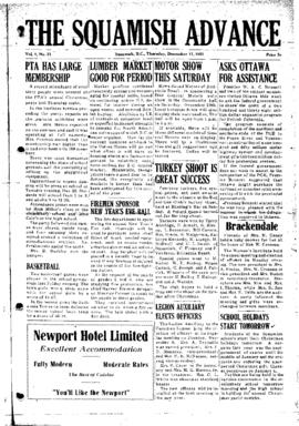 Squamish Advance: Thursday, December 17, 1953