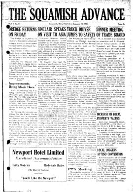 Squamish Advance: Thursday, January 14, 1954