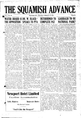 Squamish Advance: Thursday, February 18, 1954