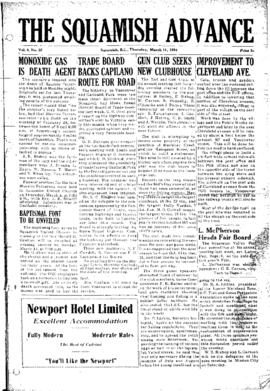 Squamish Advance: Thursday, March 11, 1954