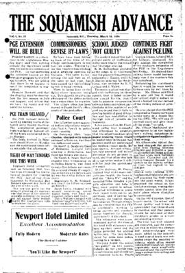 Squamish Advance: Thursday, March 18, 1954