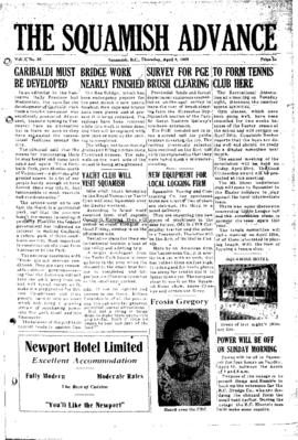 Squamish Advance: Thursday, April 8, 1954