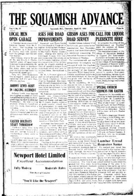 Squamish Advance: Thursday, April 15, 1954