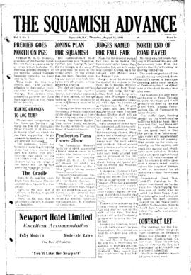 Squamish Advance: Thursday, August 12, 1954