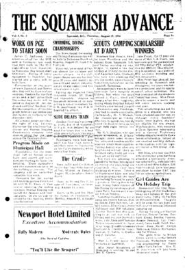 Squamish Advance: Thursday, August 19, 1954