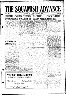 Squamish Advance: Thursday, August 26, 1954