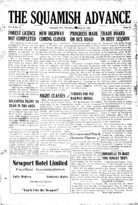Squamish Advance: Thursday, October 14, 1954