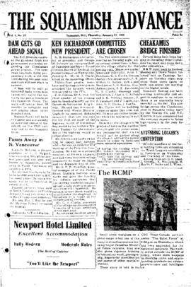 Squamish Advance: Thursday, January 13, 1955