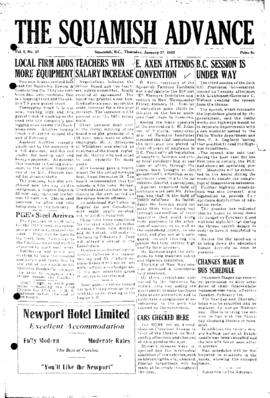 Squamish Advance: Thursday, January 27, 1955