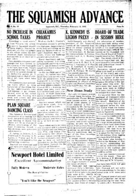 Squamish Advance: Thursday, February 10, 1955