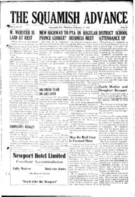 Squamish Advance: Thursday, February 17, 1955