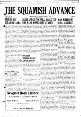 Squamish Advance: Thursday, March 3, 1955