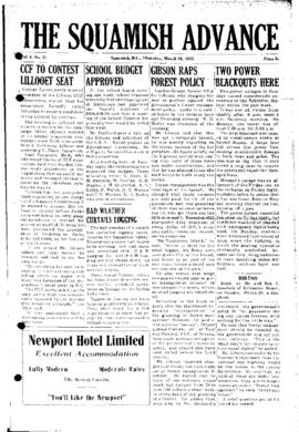 Squamish Advance: Thursday, March 24, 1955