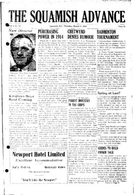 Squamish Advance: Thursday, March 31, 1955