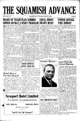 Squamish Advance: Thursday, April 14, 1955