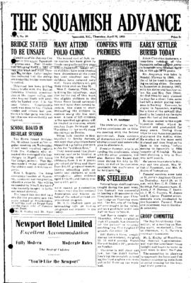 Squamish Advance: Thursday, April 28, 1955