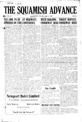 Squamish Advance: Thursday, May 12, 1955
